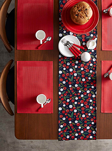 Winter berry tapestry table runner <br>33 x 180 cm