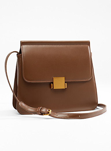 Gold-accent shoulder bag
