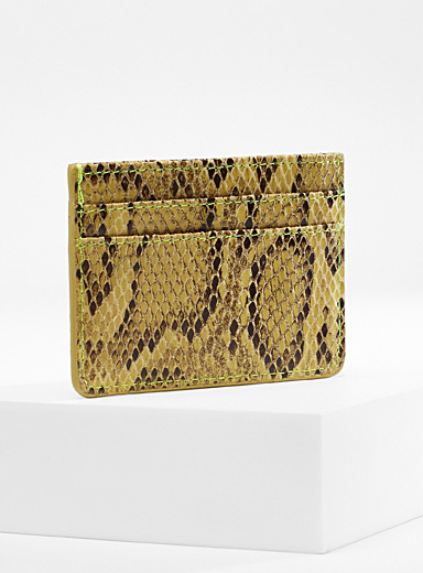 Colourful python card holder