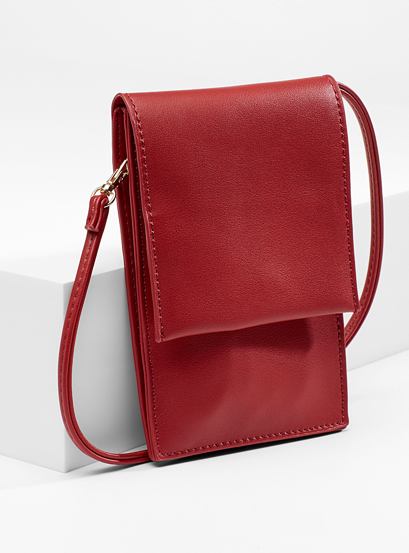 Cell phone shoulder clutch - Crossbody Bags - Red