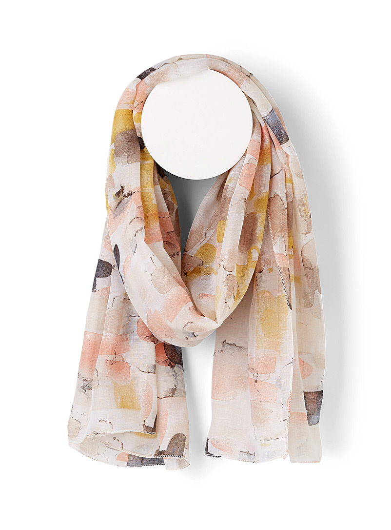 Simons Assorted Painterly accent scarf for women