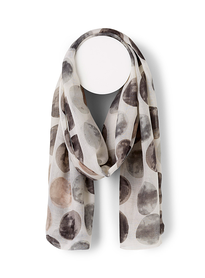 Simons Assorted Painted moon scarf for women