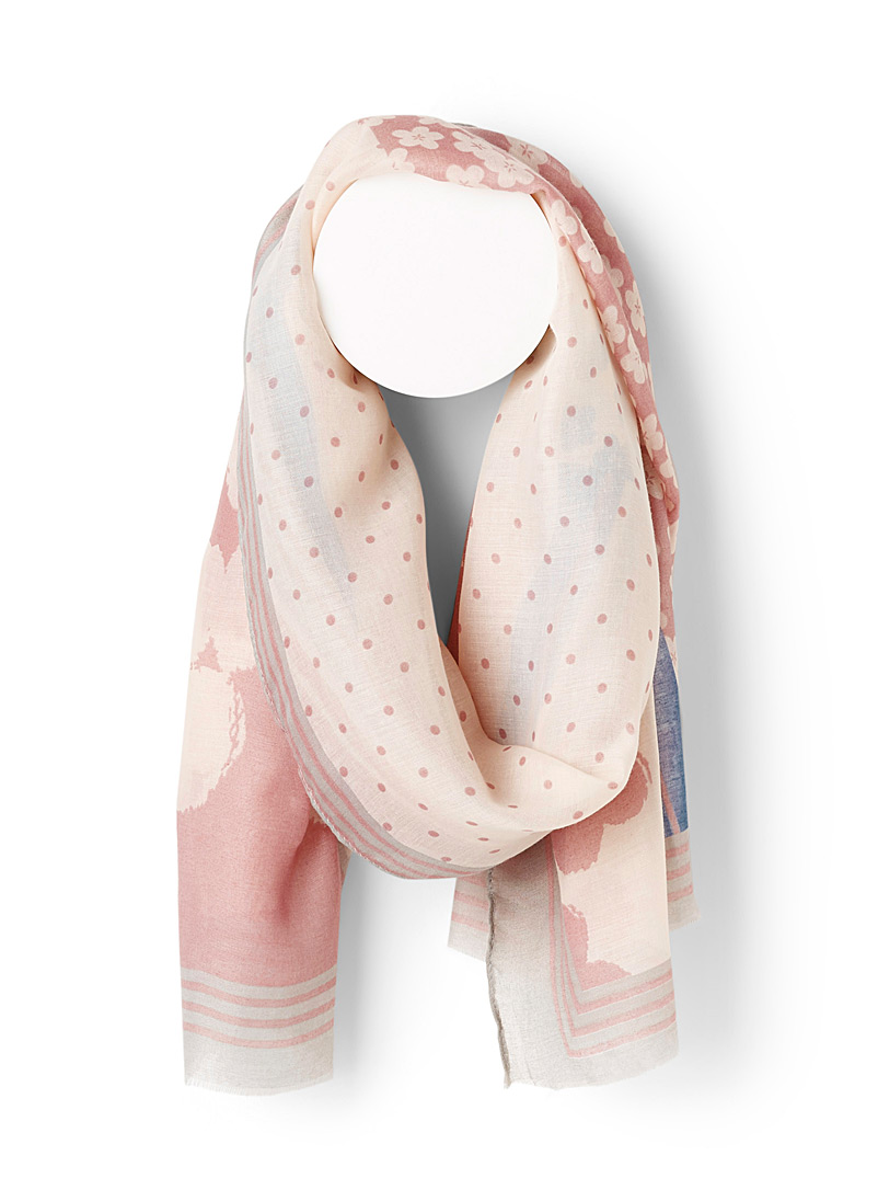 Simons Assorted  Floral patchwork scarf for women