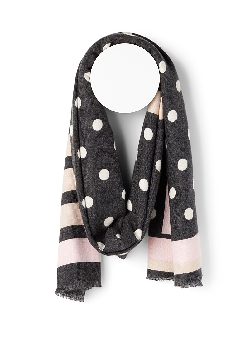 Stripes and dots ultra soft scarf