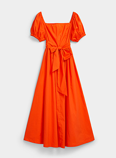 Glamorous Red Orangeade belted midi dress for women