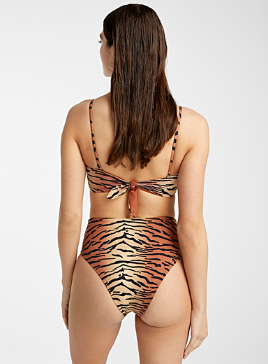 Vitamin A Patterned Brown Barcelona striped bottom for women