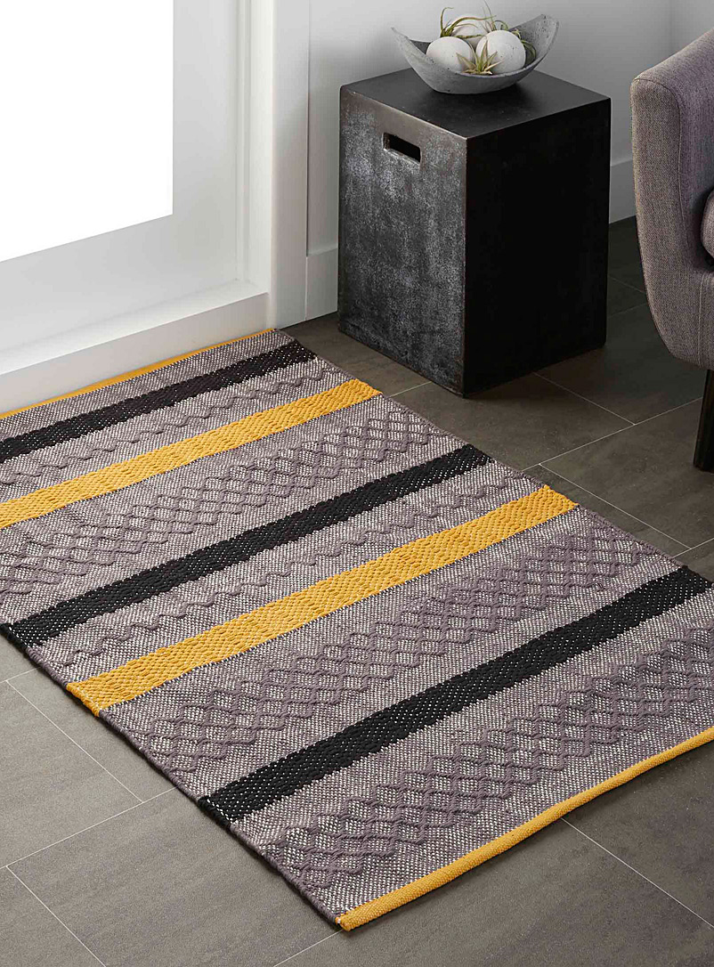 Simons Maison Medium Yellow Graphic blocks rug 90 x 130 cm