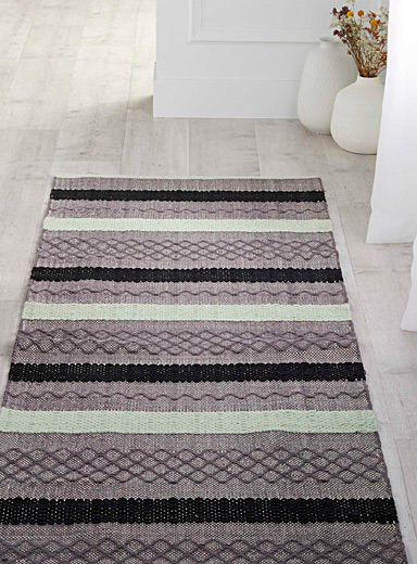 Graphic blocks rug <br>75 x 215 cm
