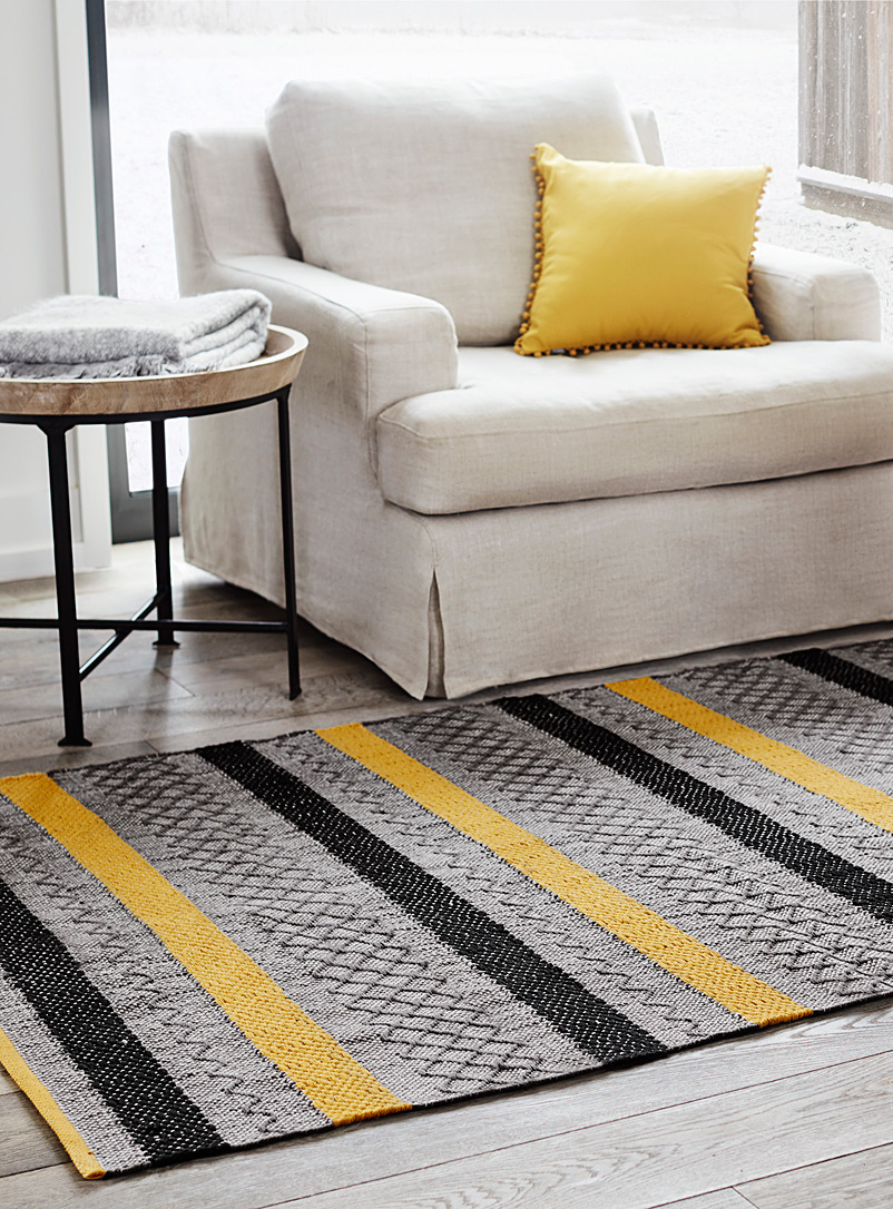 Simons Maison Medium Yellow Graphic blocks rug  120 x 180 cm