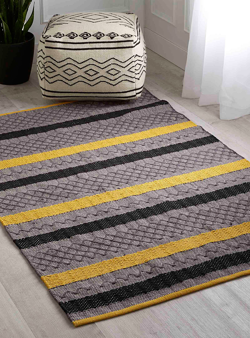 Graphic blocks rug  120 x 180 cm - Patterned - Medium Yellow