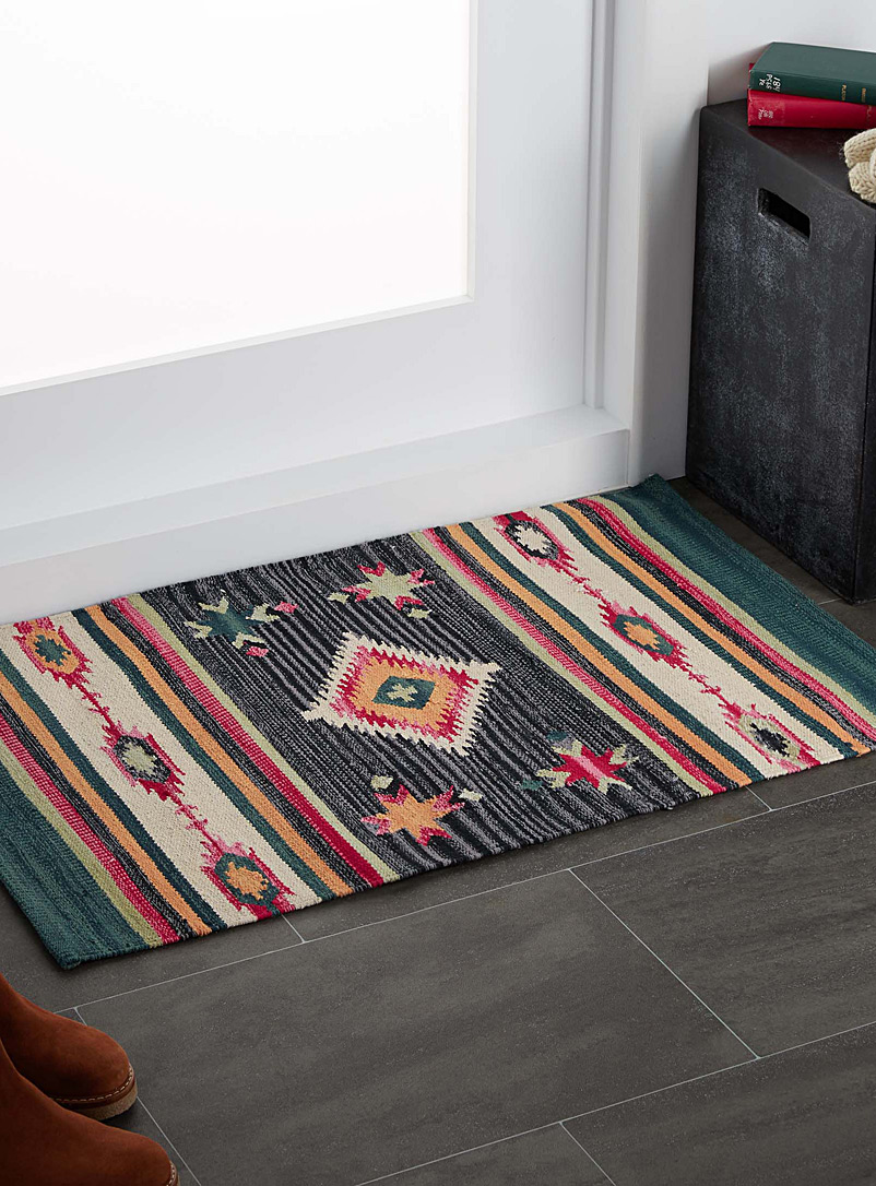 le tapis kilim color 60 x 90 cm simons maison tapis. Black Bedroom Furniture Sets. Home Design Ideas