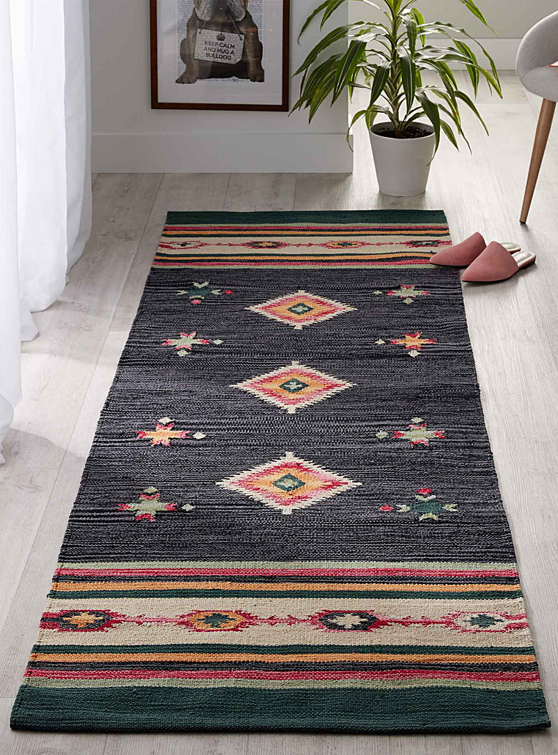 Colourful kilim rug  75 x 215 cm - Patterned - Assorted