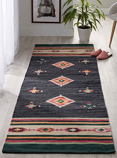 Colourful kilim rug  75 x 215 cm