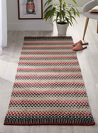 Mini diamond kilim rug  75 x 215 cm