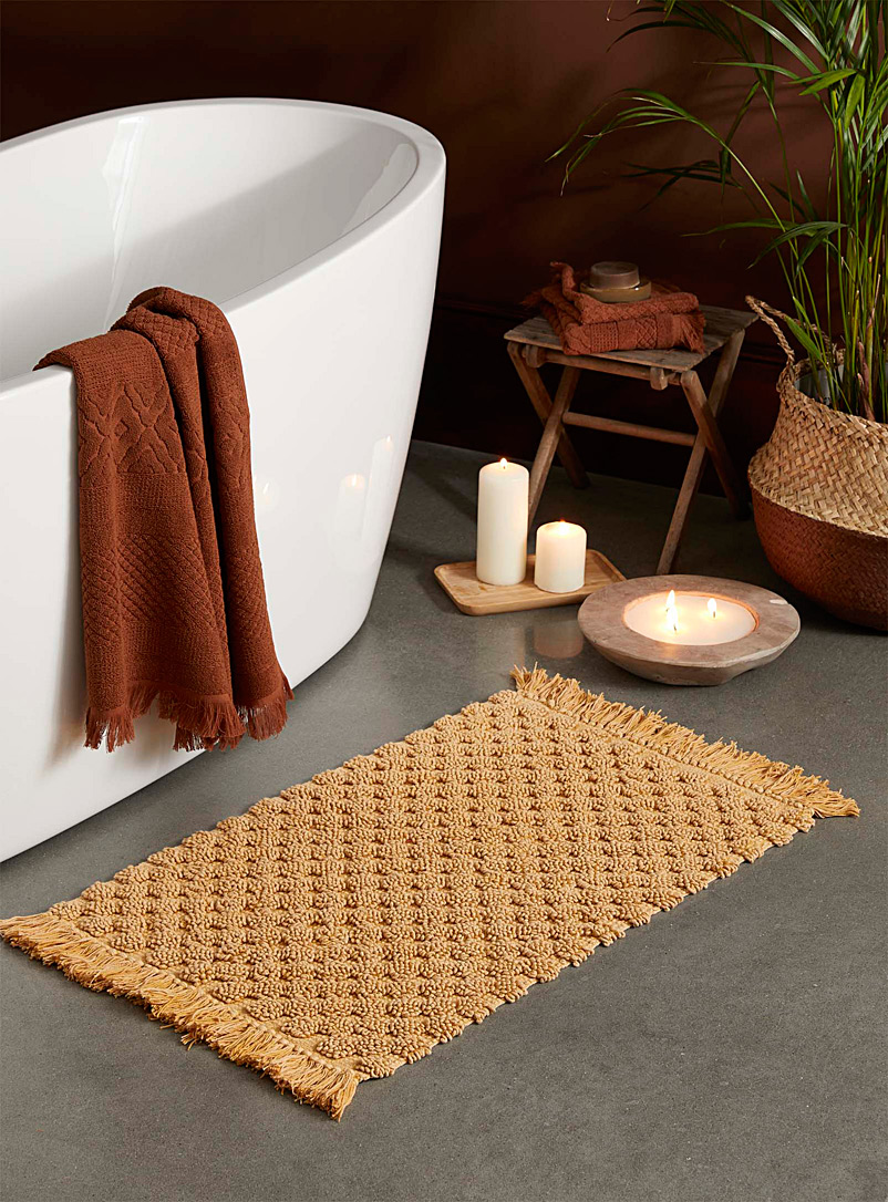 Looped cobblestone bath mat  50 x 80 cm