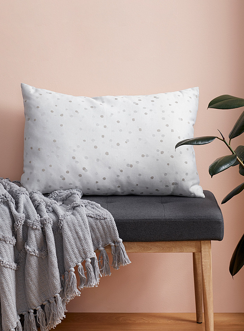 Simons Maison Silver Metallic dot cushion  40 x 60 cm