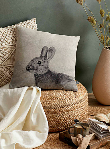 Adorable rabbit cushion <br>45 x 45 cm