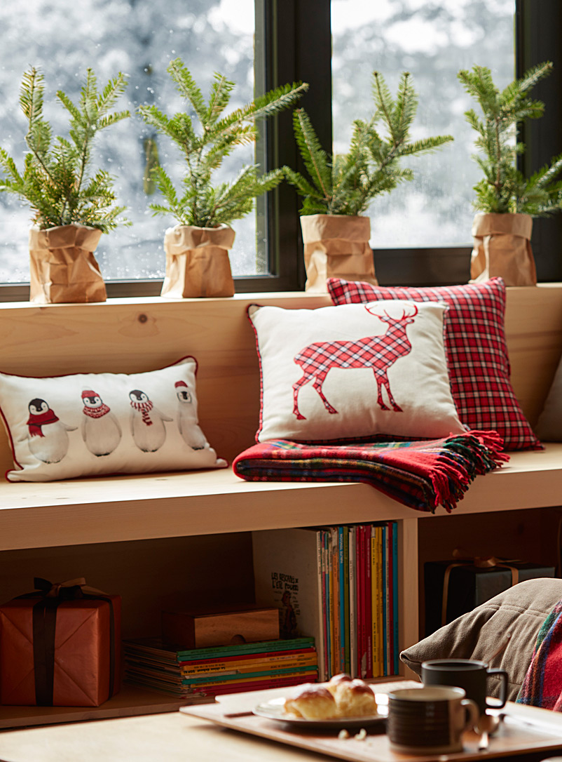 Tartan deer cushion  45 x 45 cm - Cushions - Assorted