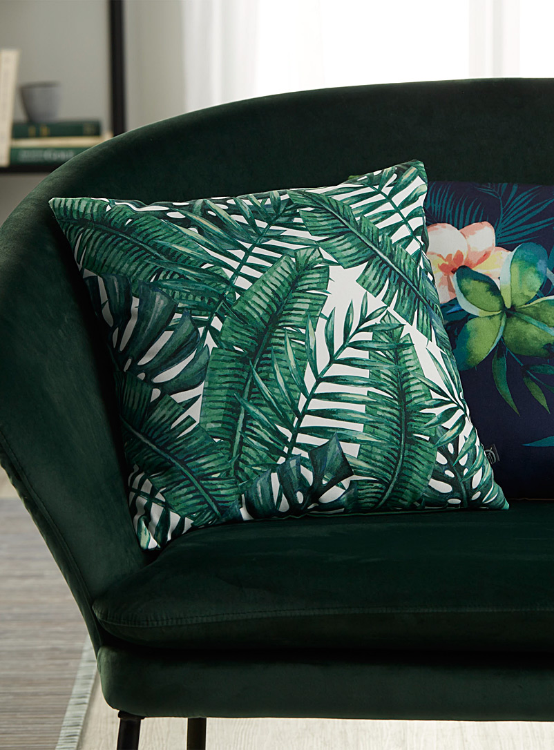 Simons Maison Patterned Green Green foliage cushion  45 x 45 cm