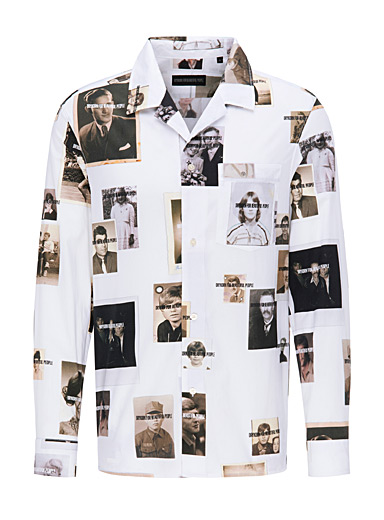 Drykorn White Souvenir album shirt for men