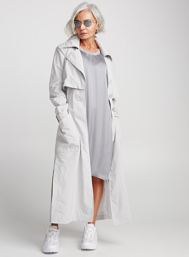 Piney long waterproof trench