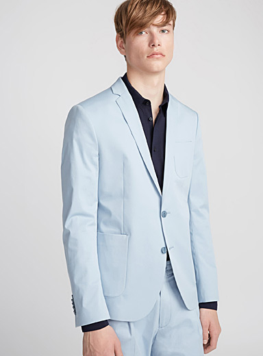 Frosted blue jacket  Slim fit