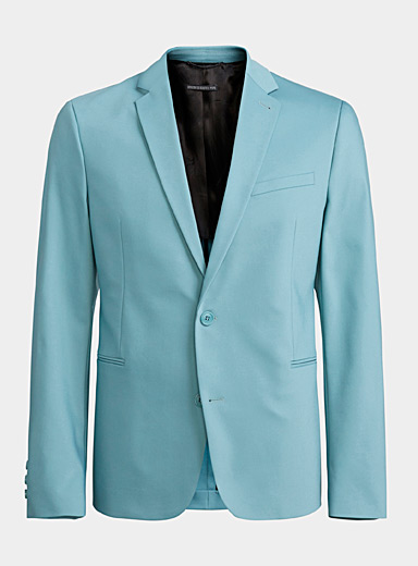Drykorn Blue Hurley satiny sage jacket  Slim fit for men