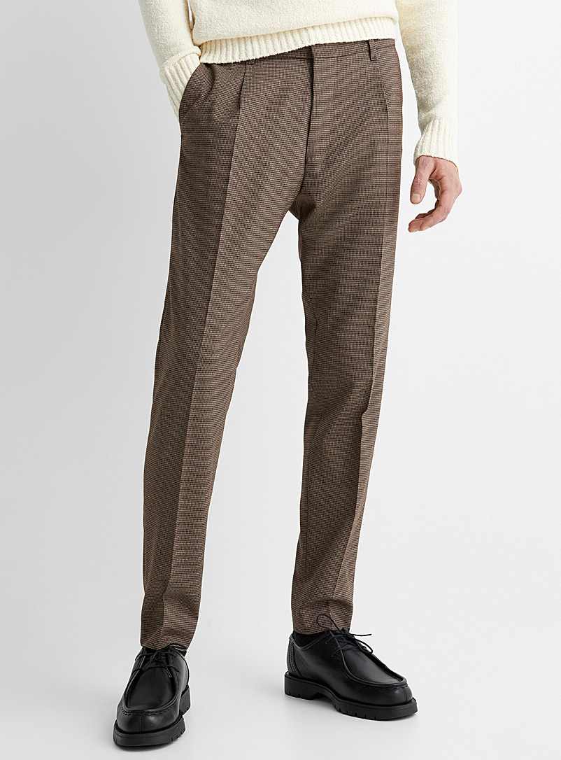 Cure houndstooth pleated pant  Slim fit