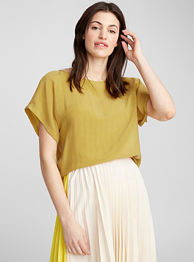 Somia ochre loose blouse