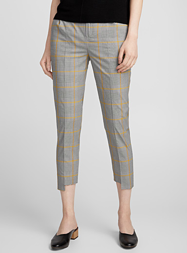 Slit colourful Prince of Wales pant