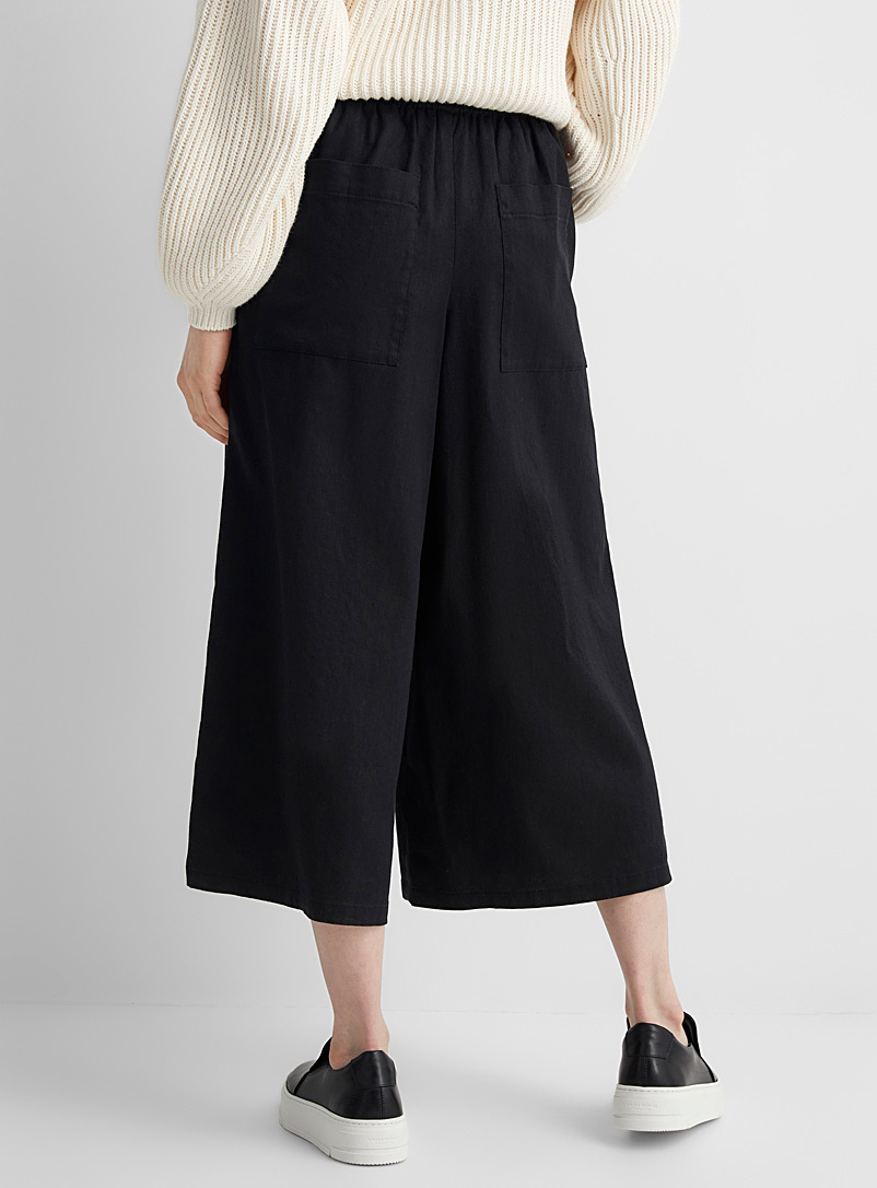 Drykorn White Catch elastic-waist cropped pant for women