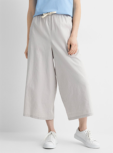Catch elastic-waist cropped pant