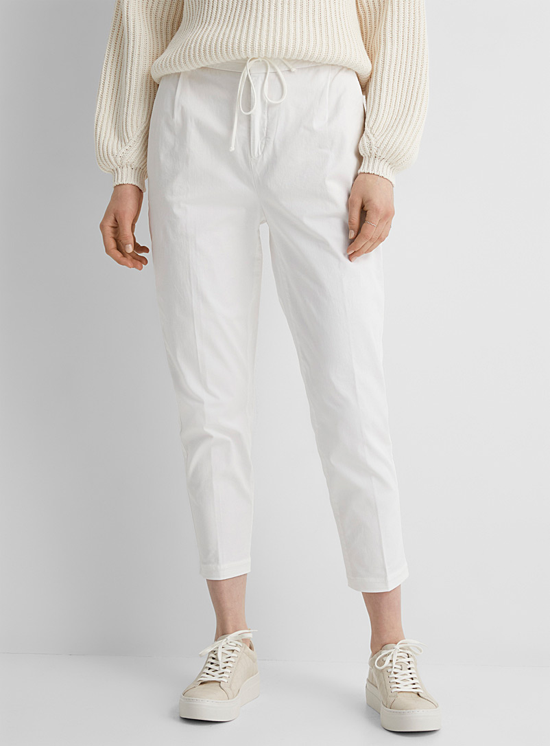 Drykorn White Level elastic-waist pant for women