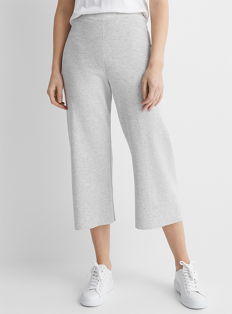 Spook cotton and wool knit pant
