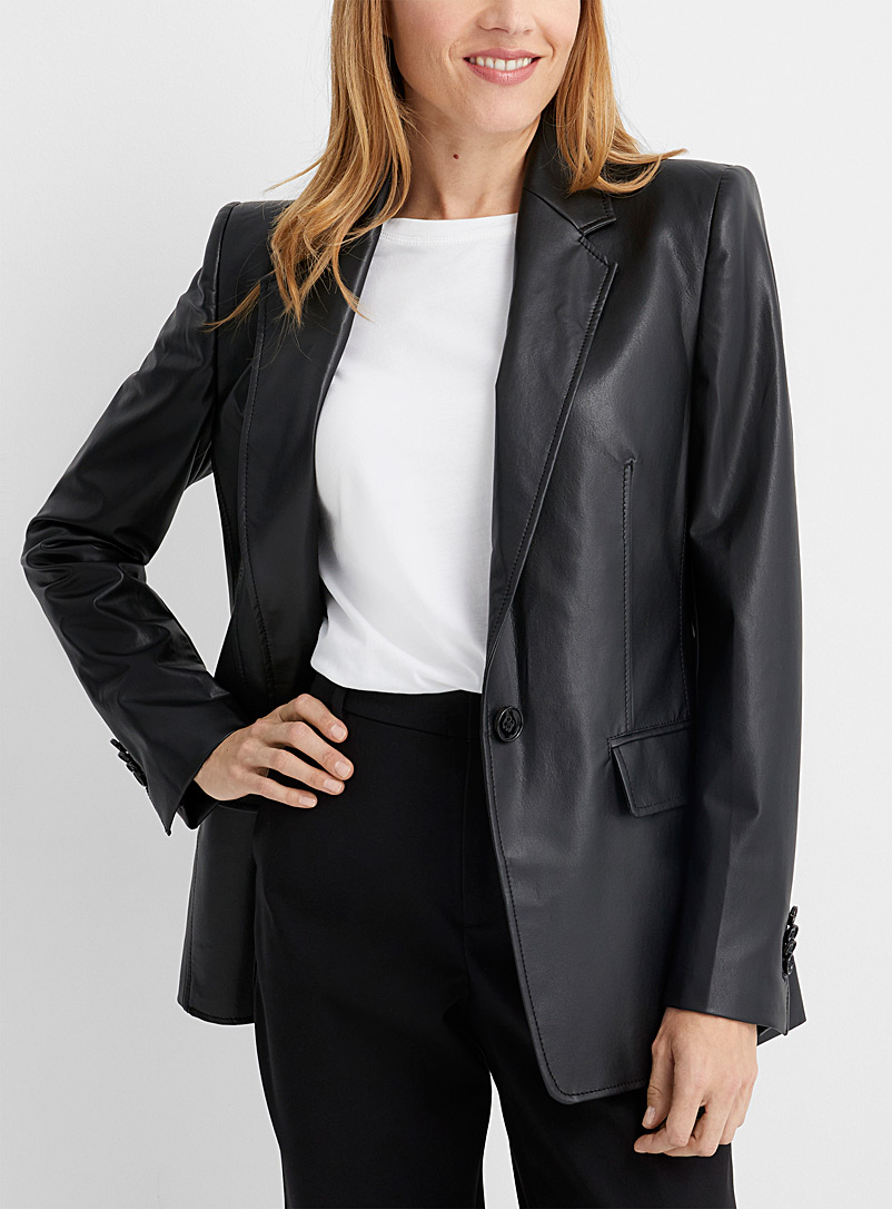 Drykorn Black Atlin faux-leather jacket for women