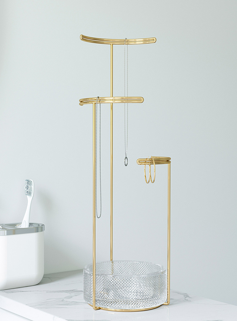 Gold and glass jewellery stand