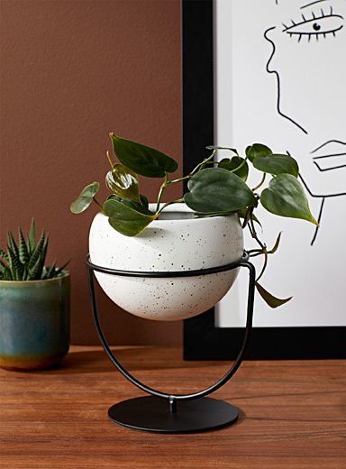 """Flecked stand planter 4"""""""