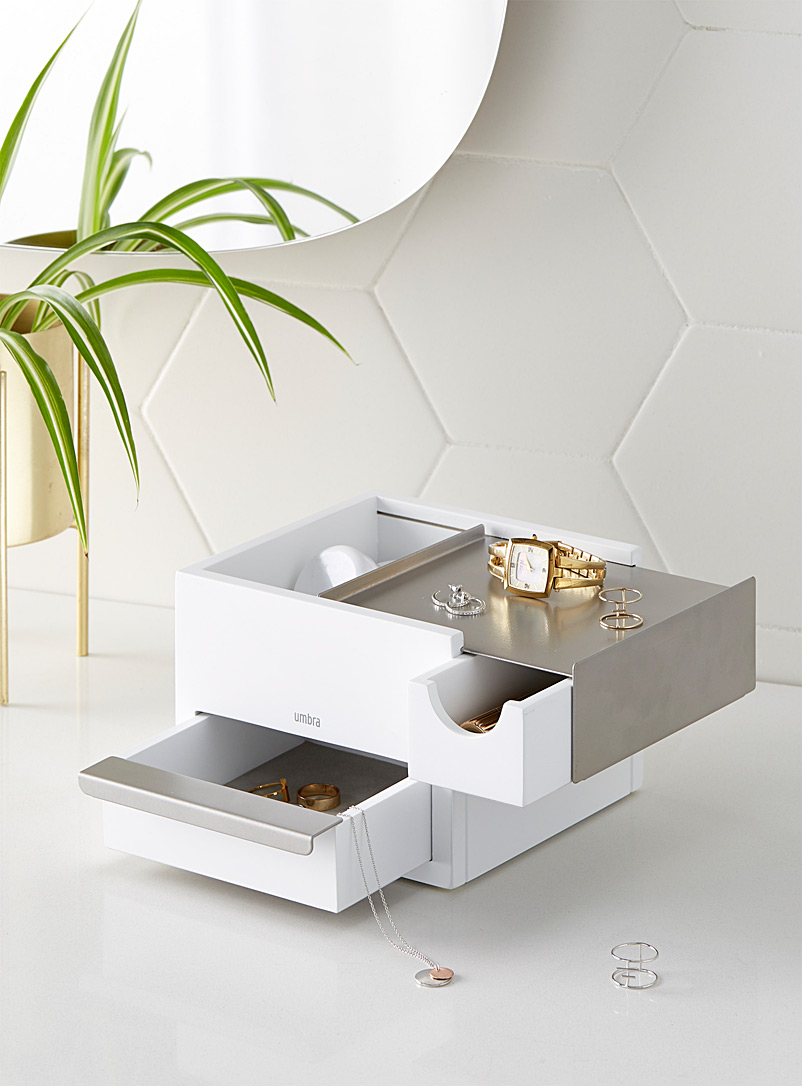 Modern cube jewellery box - Baskets & Storage - Light Grey