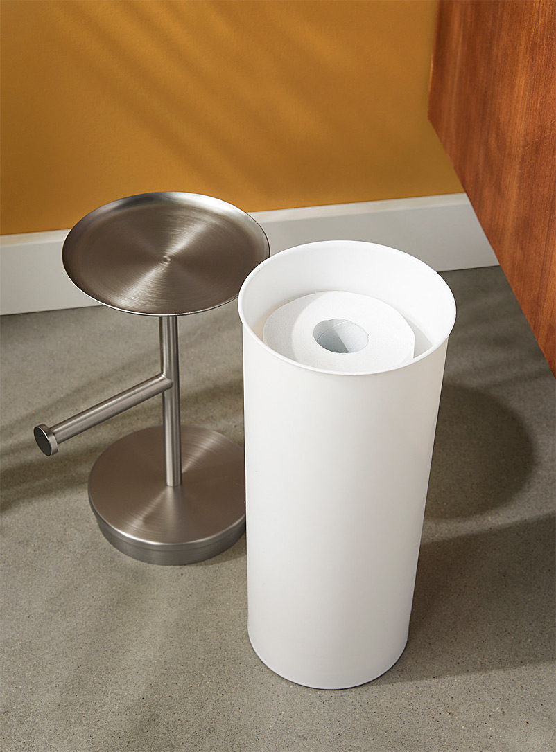 Umbra White Toilet paper rack with built-in tray