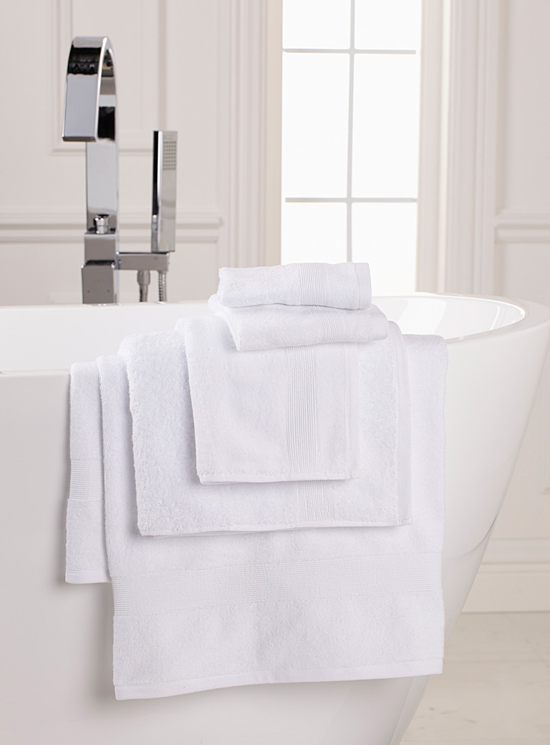 Simons Maison White Braided border Turkish cotton towels