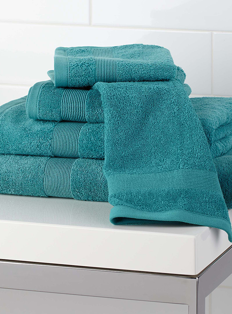 Braided border Turkish cotton towels - Solid - Assorted