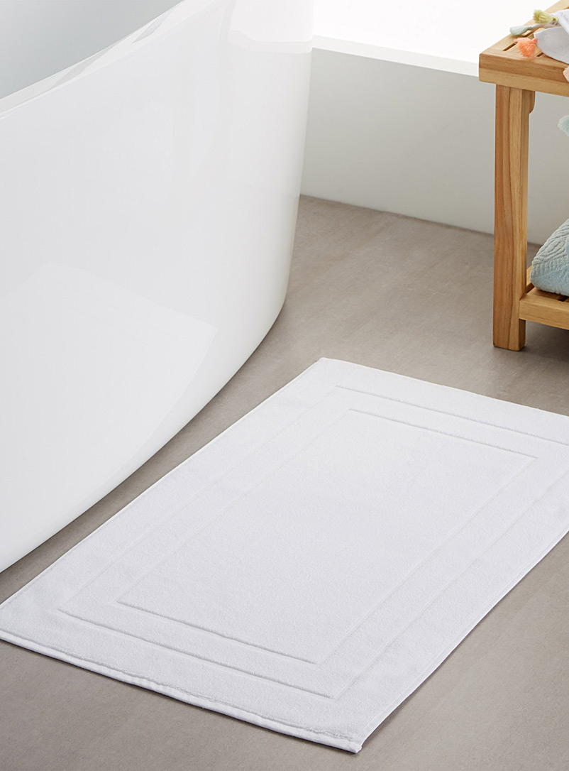 Turkish cotton bath mat  50 x 80 cm - Bath Rugs - White