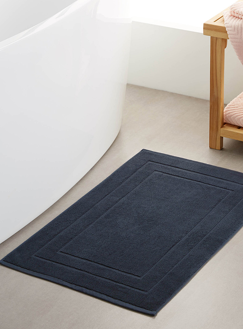 Simons Maison Marine Blue Turkish cotton bath mat  50 x 80 cm