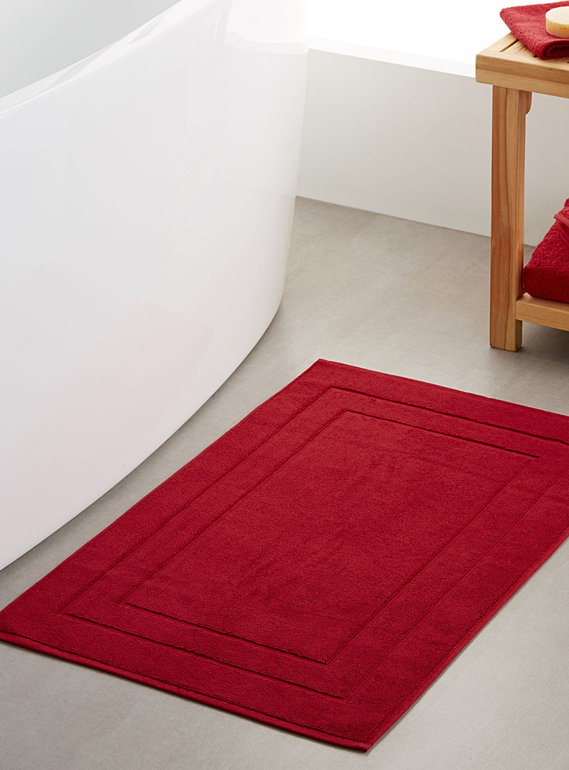 Simons Maison Red Turkish cotton bath mat  50 x 80 cm