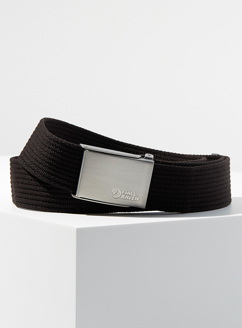 Logo buckle braided belt - Casual - Black