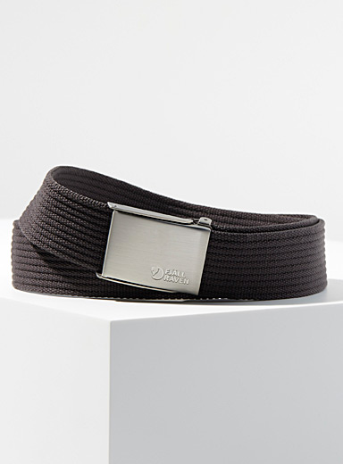 Logo buckle braided belt