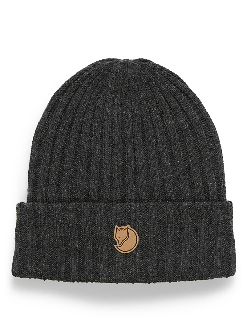Fjällräven Charcoal Byron cuff tuque for men