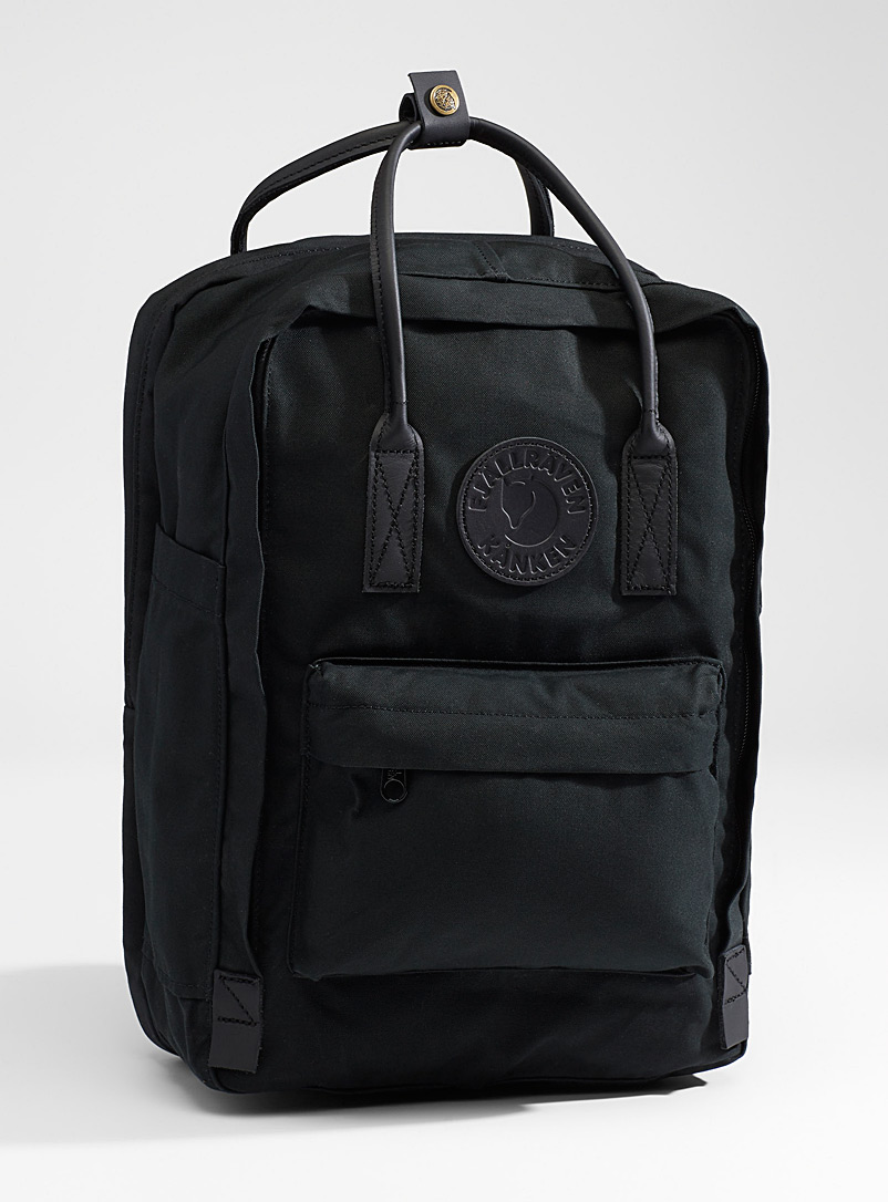 Fjällräven Black Kanken No. 2 monochrome backpack for men