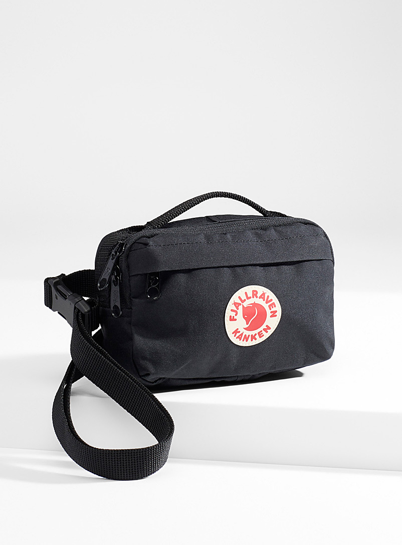 Fjällräven Black Kanken belt bag for men