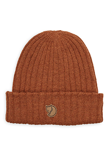 Fjällräven Copper Logo patch wool tuque for women
